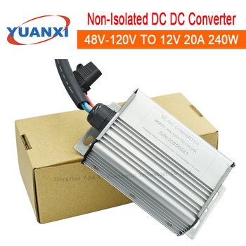 цена на Non-isolated step down dc dc converter 48V 60V 72V 84V 96V 108V 120V to 12V 13.8V 20A 240W DC BUCK Converter High power supply