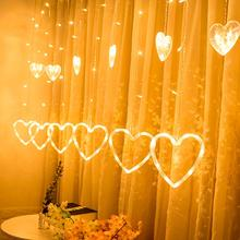 QIFU Christmas Tree Elk Curtain Light Merry Decor for Home 2019 Ornaments Xmas Gifts Navidad New Year 2020
