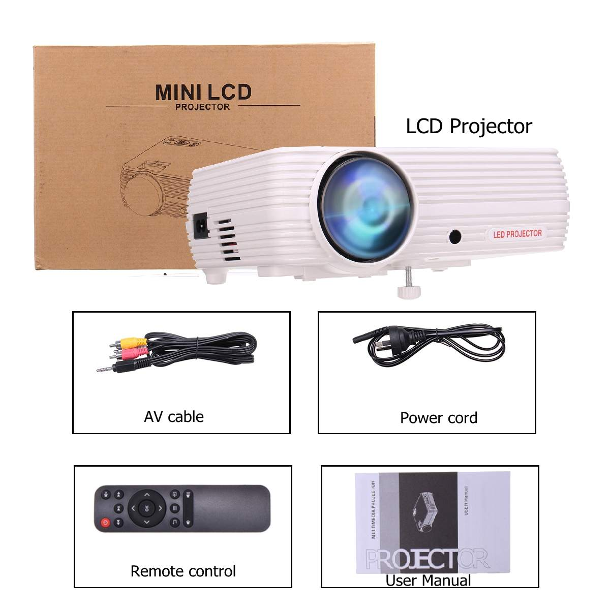7000 lumen Projektor Android 6.0.1 Wifi Wireless Display Heimkino Proyector Unterstützung Full HD 1080P 4K Video Mit HDMI