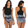 Zippered Front Sports One Piece Swimsuit 15