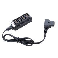 Мужской D-Tap B Тип питания Dtap нажмите на 4 Женский P-Tap Ptap концентратор адаптер Электрический сплиттер для фотографии аксессуары питания