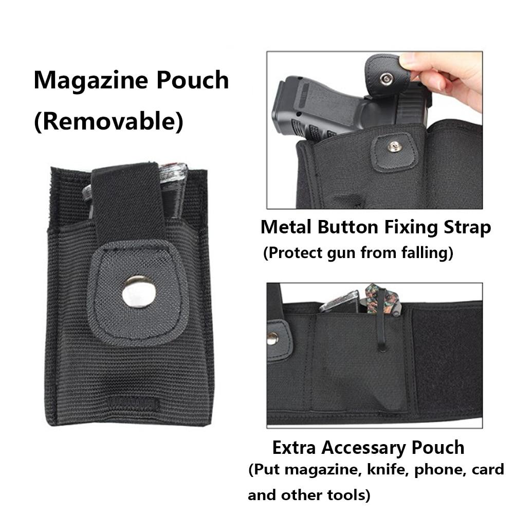 bolsa da cintura saco arma coldre revista handgun carrier