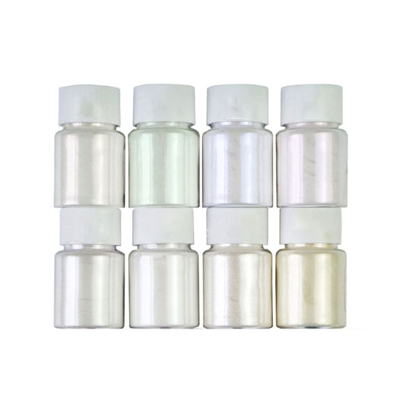 8 Pcs/set Pearlescent Powder Handmade Jewelry Making Filling Material Crystal Mud Pigment DIY Epoxy Filler LK