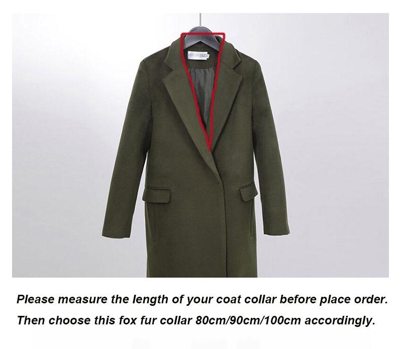 fox fur collar size 2