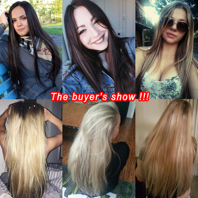 SUe EXQUISITE Clip in Hair Extension 16 Clips Blond Long  22inches  Straight Synthetic Hairpiece