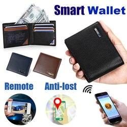 Умный мужской кошелек из натуральной кожи высокого качества, Интеллектуальный Bluetooth кошелек с защитой от потери, мужские держатели для карт...