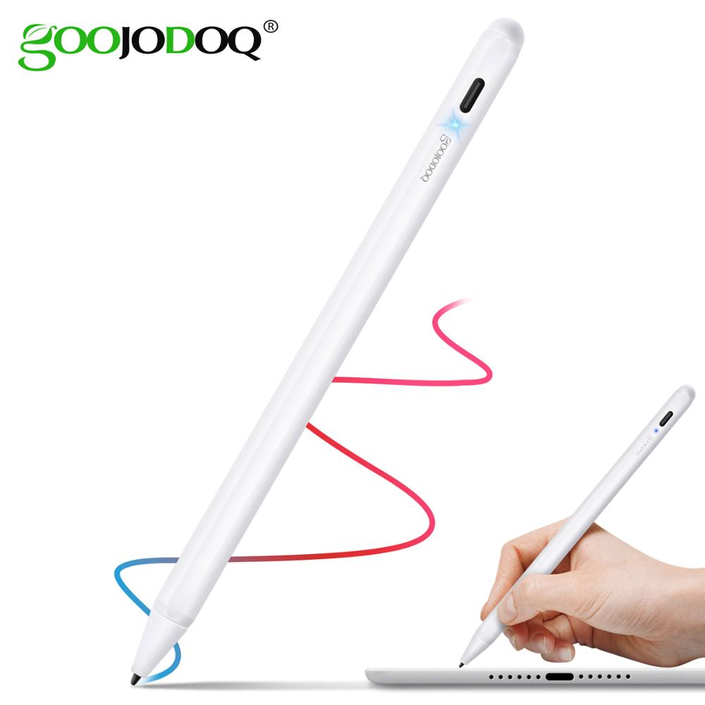 GOOJODOQ Touch Pen Stylus For Apple Pencil 2 1 For IPad 9.7 2018 Pro 11 12.9 2018 Air 3 10.5 2019 10.2 Mini 5 Tablet Stylus Pen