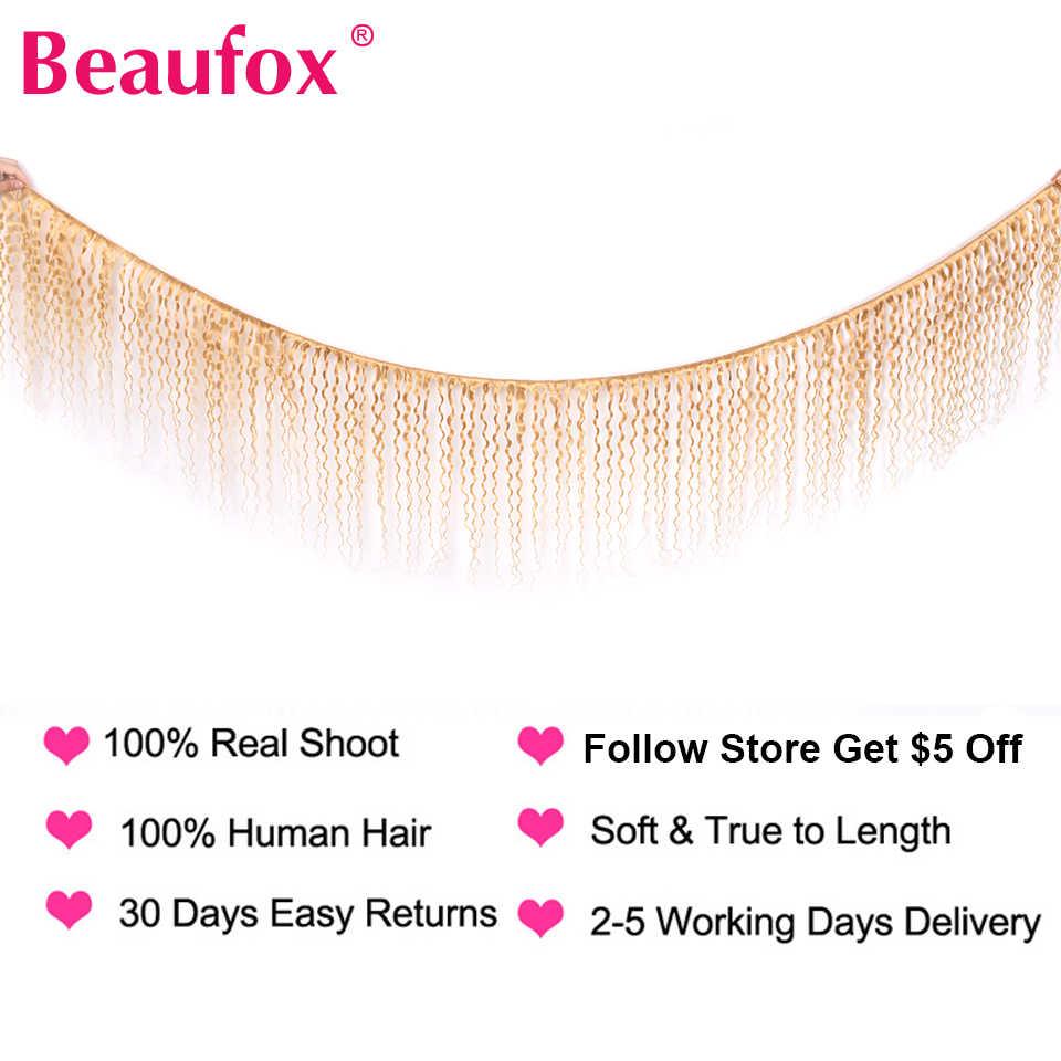 Beaufox 613 Blonde Hair Extensions Peruvian Hair Water Wave 4 Bundles 100% Human Hair Weaving 613 Bundles Remy