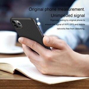 Image 5 - מקרה עבור iPhone 12 Mini 11 Pro Max XR X XS Max iPhone11 מארז Nillkin סינטטי סיבי פחמן פלסטיק כיסוי עבור iPhone 11 מקרה