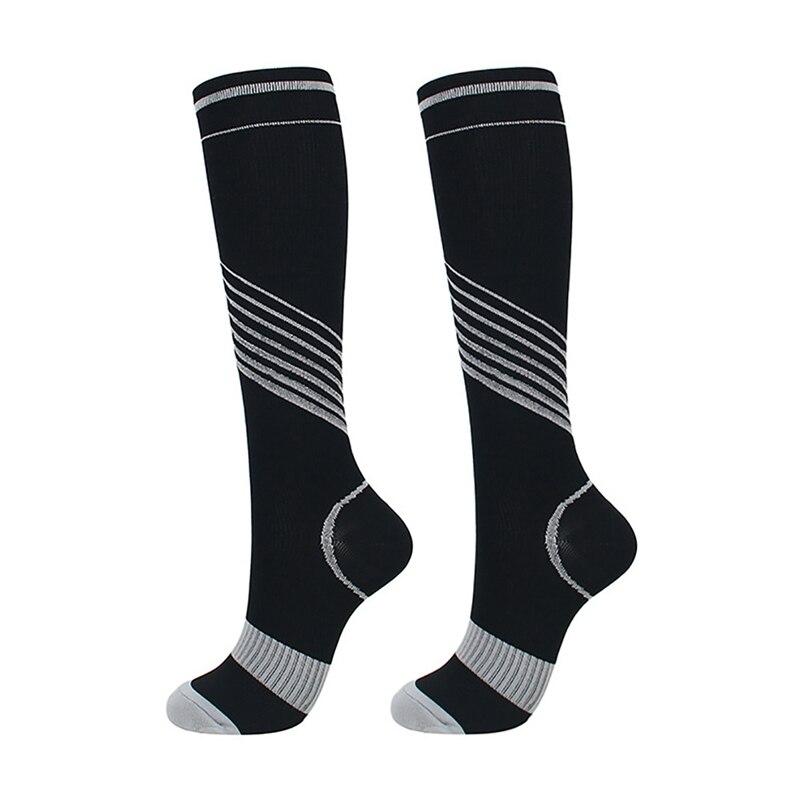 Unisex Compression Socks Knee High/Long Elastic Printed Polyester Nylon Hosiery Footwear Accessories