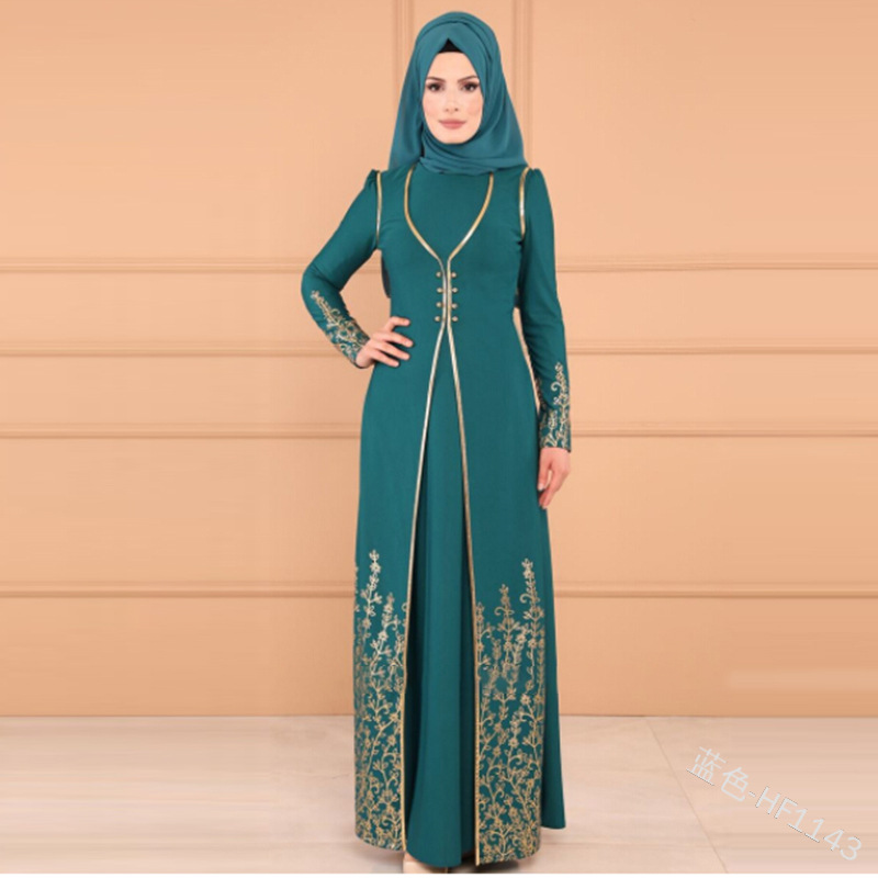 Vestidos Long Muslim Abaya Turkey Islamic Arabic Hijab Dress Caftan Dubai Kaftan Moroccan Tesettur Elbise Robe Musulmane Longue