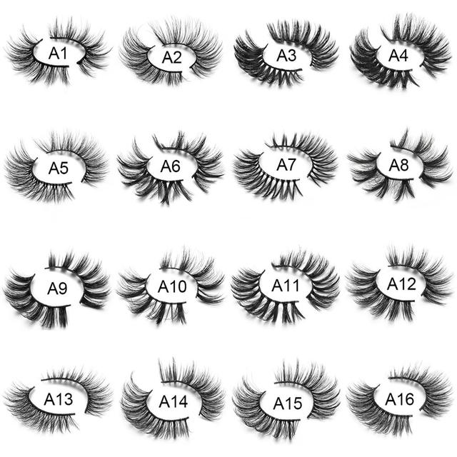 SEXYSHEEP 4/8 pairs 3D Mink Lashes Natural False Eyelashes Dramatic Volume Fake Lashes Makeup Eyelash Extension Silk Eyelashes 2