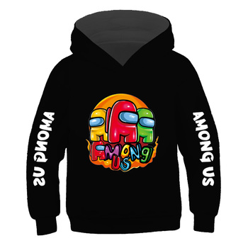 Boys 100% Cotton Casual Clothes Game Among Us Hoodies Sweatshirt Impostor Cartoon Anime Hoodie 2021 Kids Spring Autumn Clothing 2