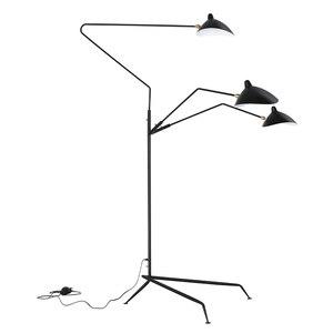 Скандинавский паук Serge Mouille торшер моделирование спальни промышленный стоячий светильник простой гостиной светодиодный напольный светиль...