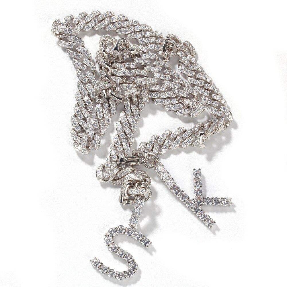 Lettres Miami lien cubain chaînes Hip Hop bijoux glacé Bracelet pour hommes femmes Punk rappeur cadeau de fête