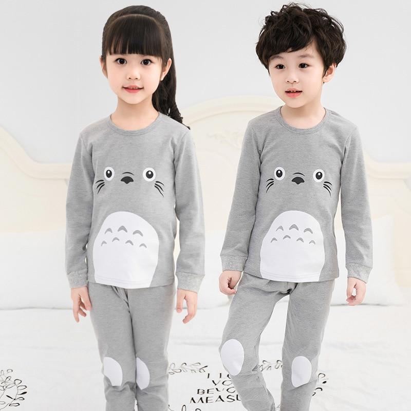 Autumn Children Clothes Kids Clothing Set Boys Pajamas Sets Totoro Unicorn Nightwear Cotton Pajamas Girls Sleepwear Baby Pyjamas