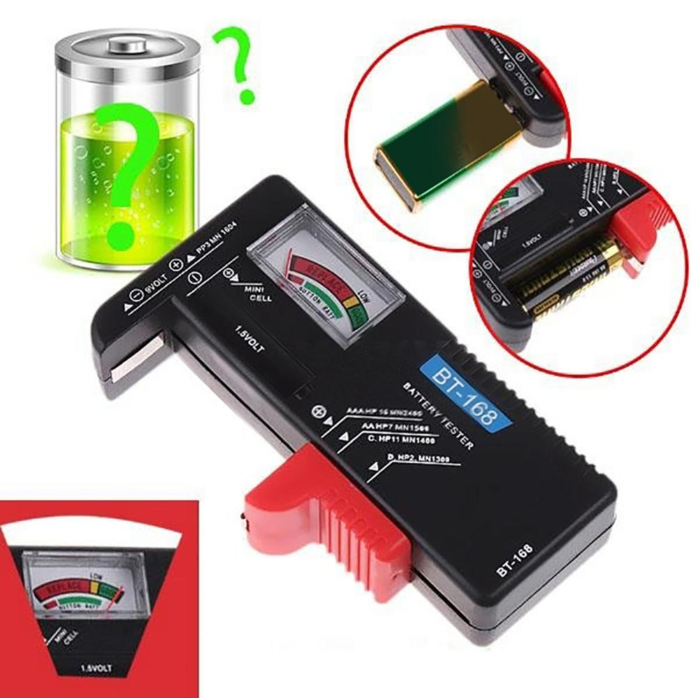 Universal BT-168 Digital Battery Capacity Tester LCD For 9V 1.5V AA AAA Cell C D Batteries
