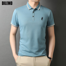Top Grade New Designer Logo Brand Summer Mens Polo Shirts With Short Sleeve Turn Down Collar Casual Tops Fashions Men Clothing