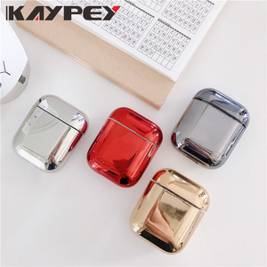 For AirPods Case luxury Gold Plating hard Cover Bluetooth Wireless Earphone Case For iPhone headphone Air pods 2 Charging Box(China)