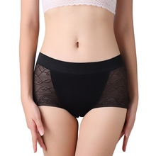 Lace Panties Women New Mid-waist Panties Breathable Sexy Seamless Briefs Openwork Solid Color Briefs characteristic solid color women s openwork alloy bracelet