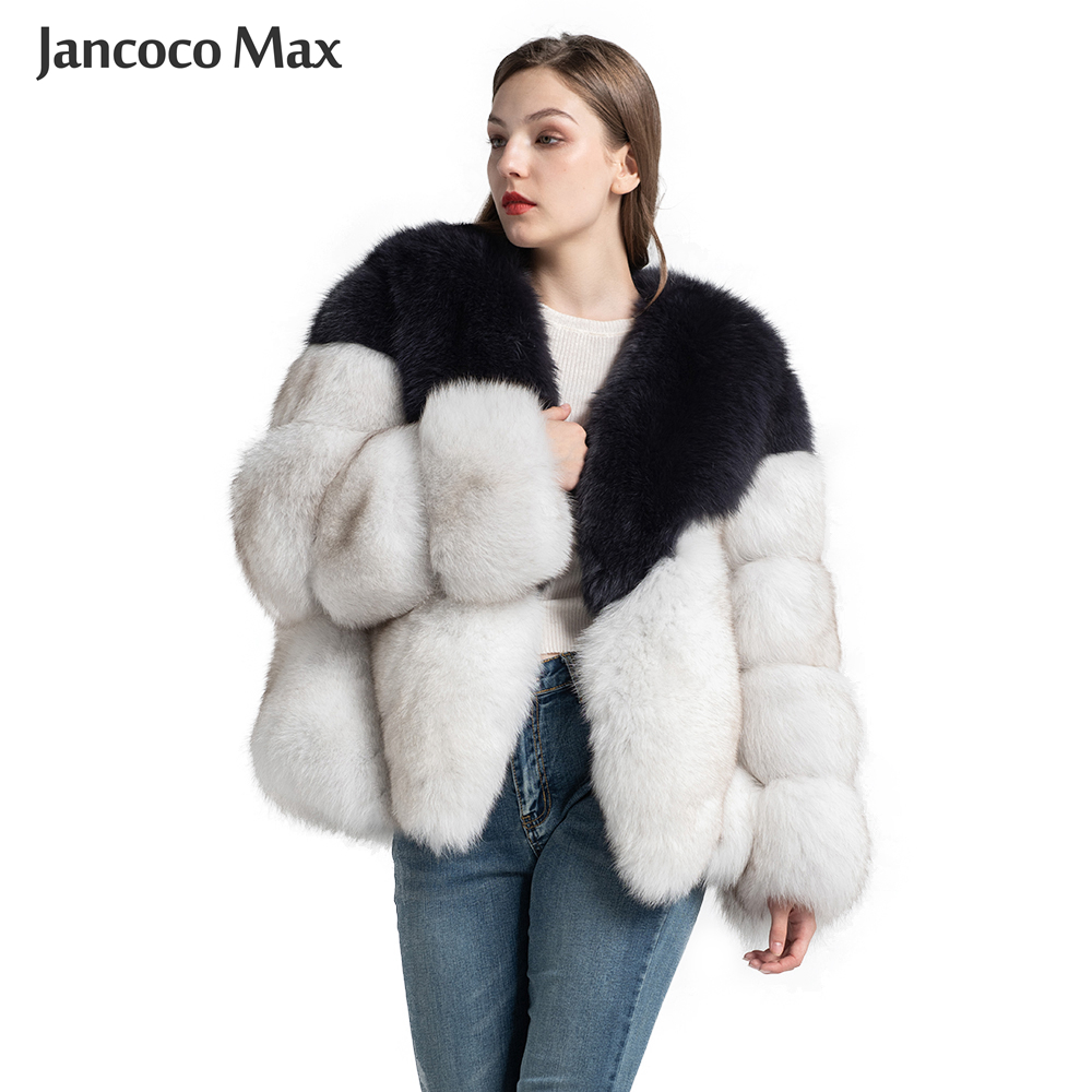 Top Quality Real Fox Fur Coat Women's Fashion Natural Fur Jacket Winter Thick Warm Overcoat Lady Luxury S7371