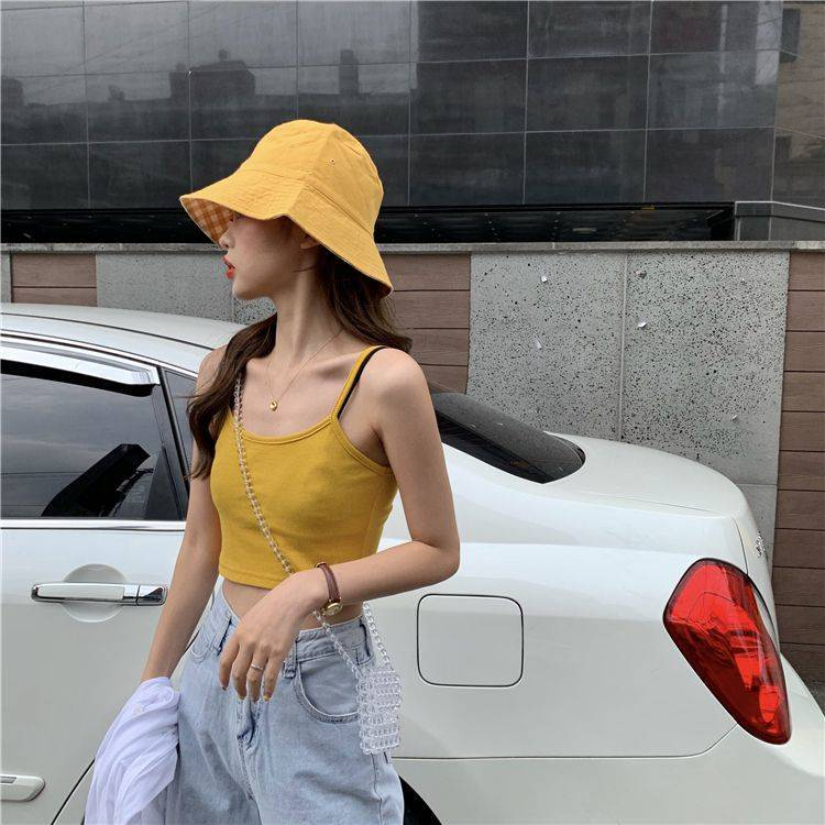H5c4ad172584a4e6283fde547f6dcceb16 - Crop Top New Fashion Women Sexy Solid Summer Camis Female Casual Tank Tops Vest Sleeveless Cool Streetwear Club High Street