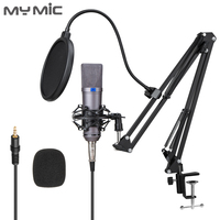 My Mic U87PX Professional Condenser Microphone Studio With Stand For Vocal Voice Record