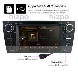 Image 4 - مشغل أسطوانات للسيارة لاعب شاشة تعمل باللمس لسيارات BMW 3 سلسلة E90 E91 E92 E93 GPS بلوتوث راديو USB SD كاميرا خلفية مجانية 8 جيجابايت خريطة بطاقة SWC RDS