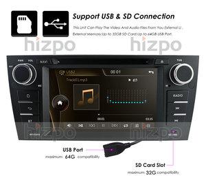 Image 4 - נגן DVD לרכב מסך מגע עבור BMW 3 סדרת E90 E91 E92 E93 GPS Bluetooth רדיו USB SD משלוח אחורי מצלמה 8 GB כרטיס מפת SWC RDS