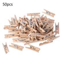 50 шт/компл Деревянные прищепки для фотобумаги и одежды