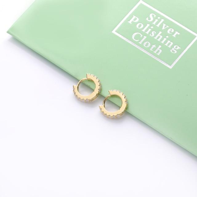 Moonmory 2020 Fasion Jewelry 925 Sterling Silver opal Hoop Huggies Earring For Women Mini Wedding Hoop Earring Wholesale