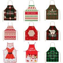 Linen Apron Household-Items Kitchen Christmas Creative Cotton Women for Decoration Decoration