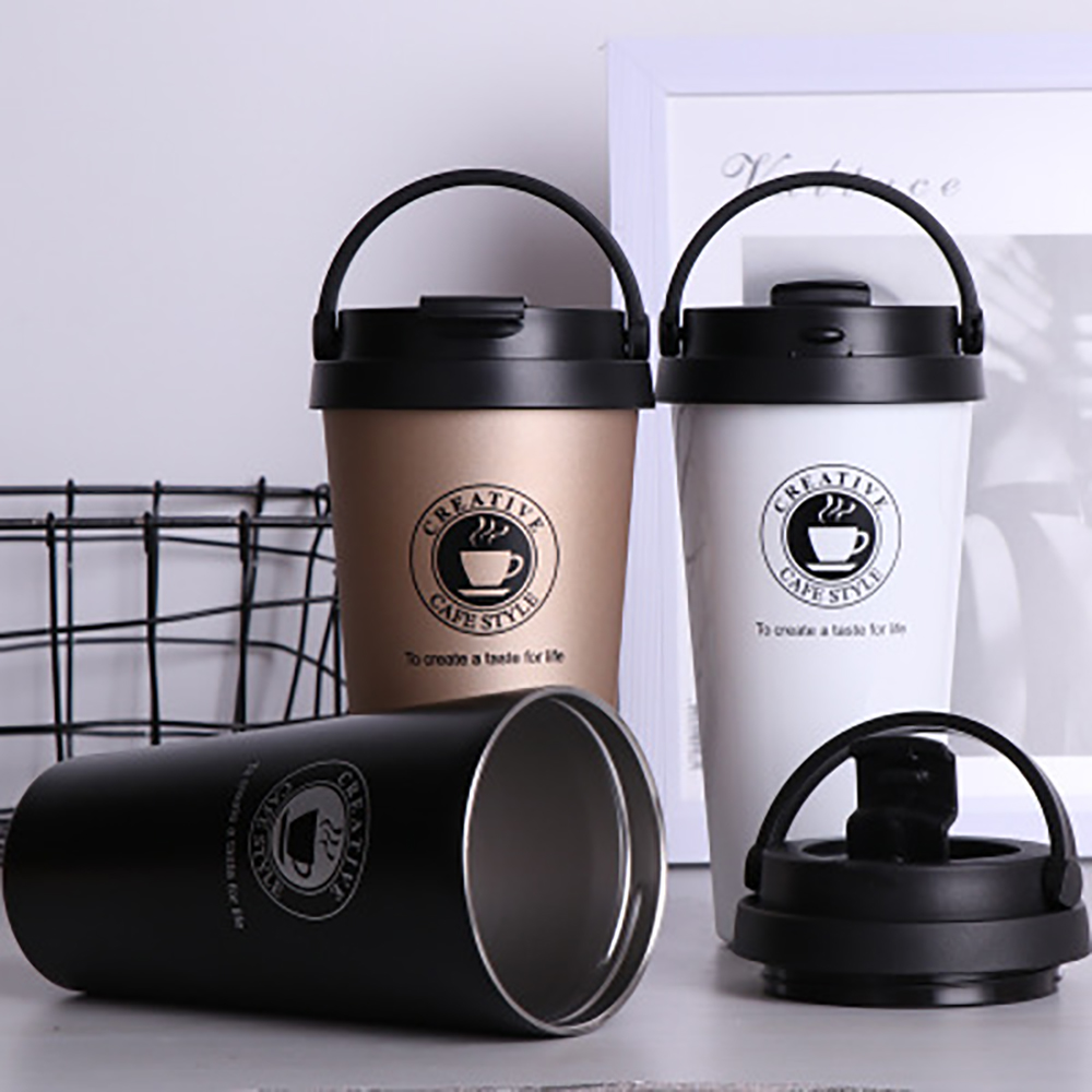 Bouteille sous vide en acier inoxydable | thermos sous vide, Double tasse à café en acier inoxydable, thermos de voyage, tasse à la mode, gobelet de thé chaud
