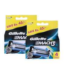 Original Gillette Mach 3 Blades Razor Men Layer Shaving Blade Remover Replacement 8pcs/Box