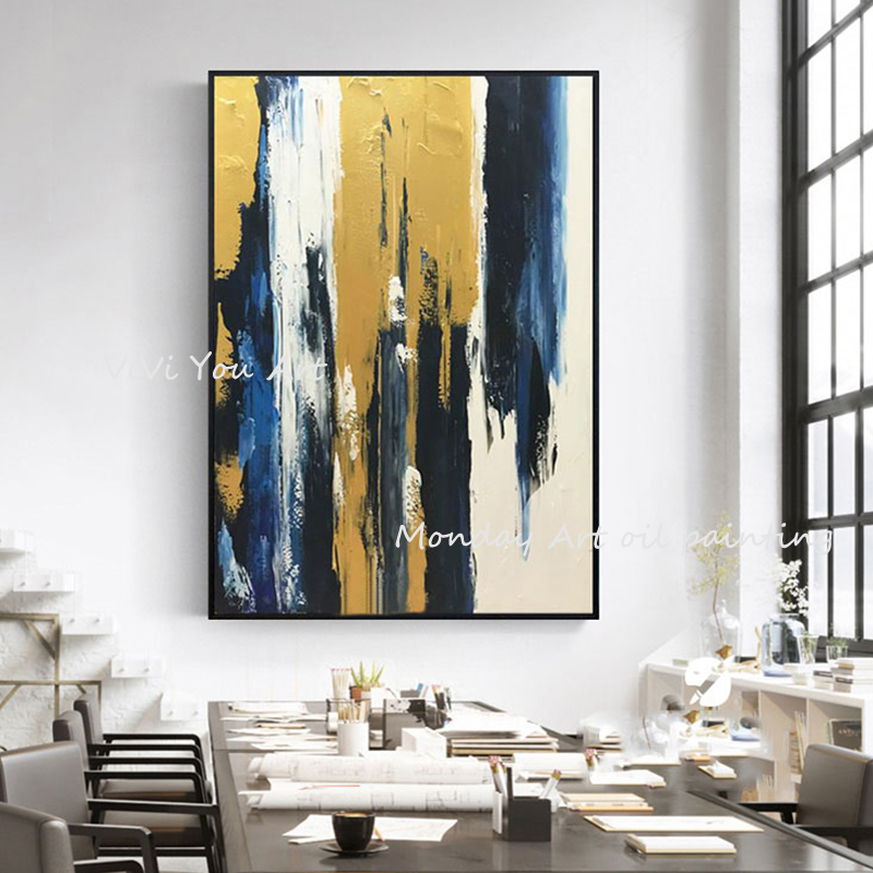 100-Hand-Painted-Abstract-Golden-Art-Oil-Painting-On-Canvas-Wall-Art-Wall-Adornment-Pictures-Painting (5)