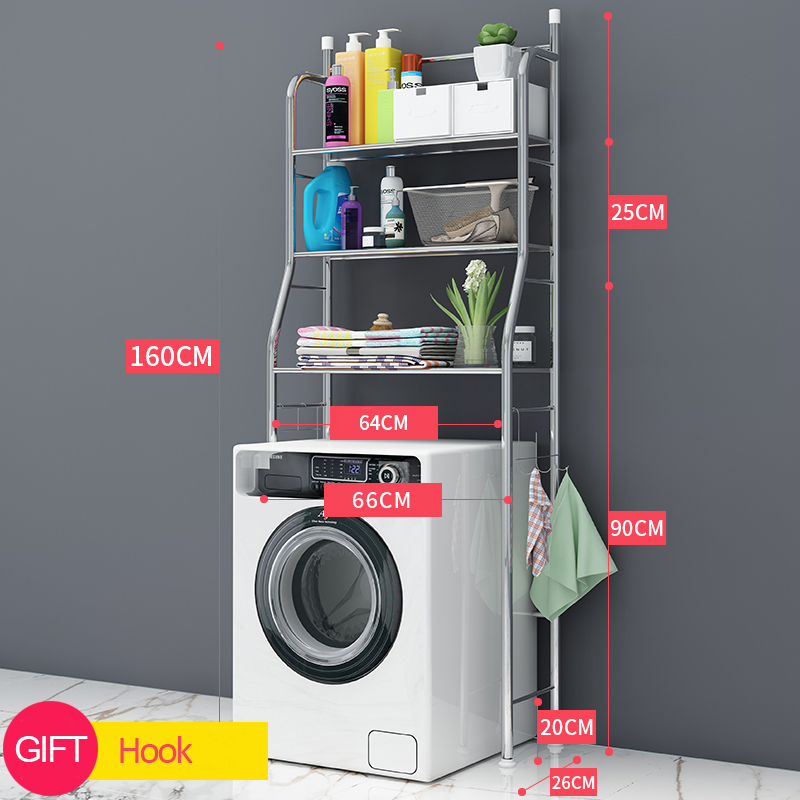 Shelves Shelf Above The Rack Washing Machine Toilet Luggage Batnroom Space Saver Organizer Stainless Steel