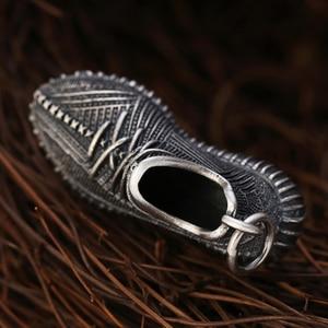 Image 4 - Vintage S925 ayar gümüş takı moda erkekler için Sneakers erkek kadın kadın kolye anahtarlık takı hediye