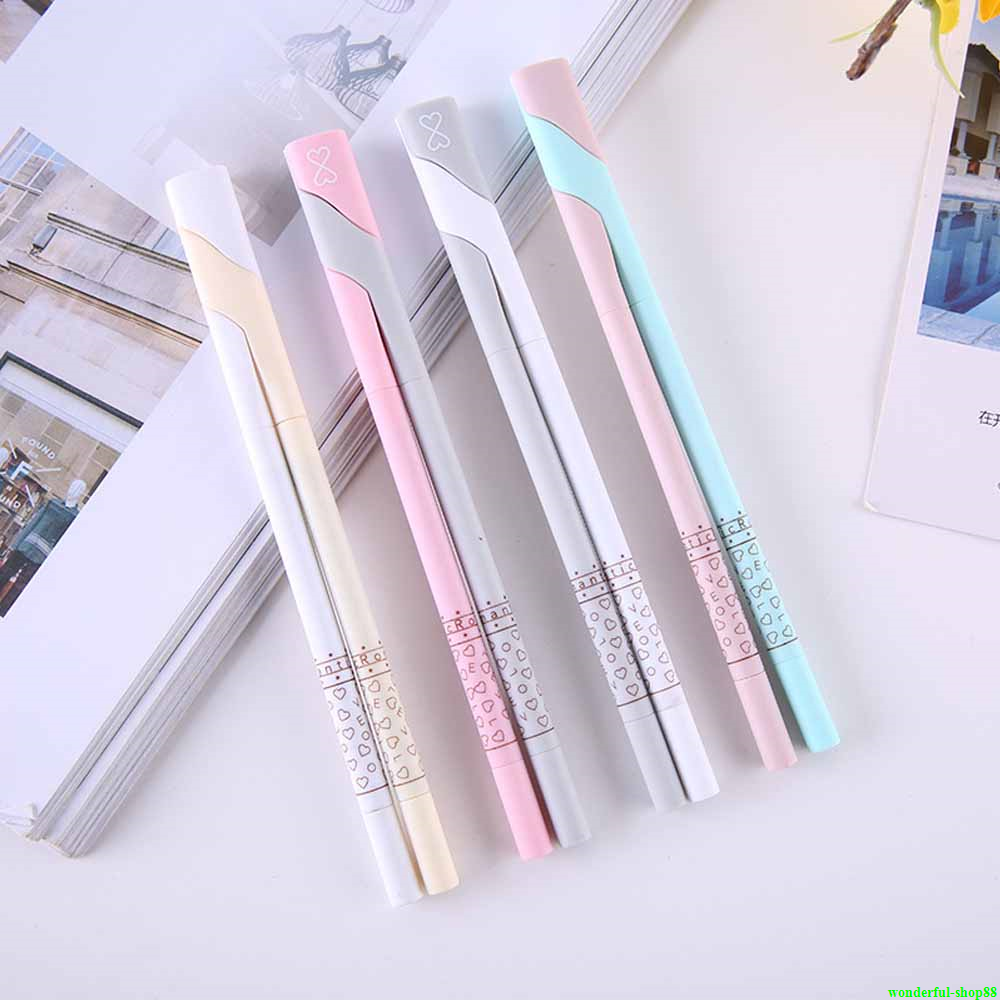 0.5mm Cute Kawaii Plastic Erasable Gel Pen Korean Stationery With Eraser Pendant