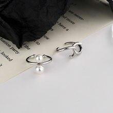 KISSLOVE-pendientes de perlas de imitación para mujer, 1 Uds., Piercing falso sin agujero