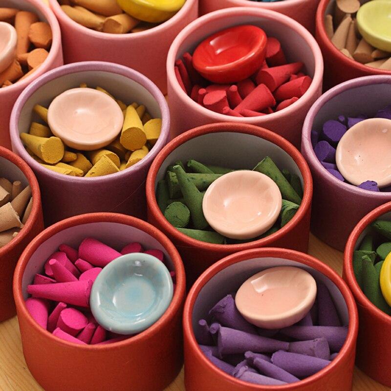 Deodorization Aromatherapy Stick Aromatherapy Sandalwood Rose Aroma Perfume Set Pagoda Natural Incense Helps Sleep TSLM1