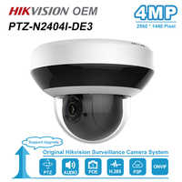 Hikvision ds OEM 4MP POE IP PTZ Della Macchina Fotografica 2.8 ~ 12 millimetri Lens 4X Zoom Supporto 2-Way Audio di Rete PTZ cam IR 20m IP66 H.265 + PTZ-N2404I-DE3