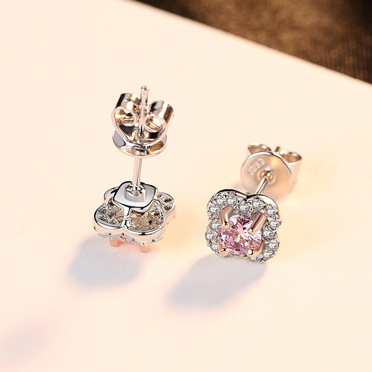 PAG & MAG AAA zircon fleur S925 pur argent oreille clou exquis mode dame boucle d'oreille bijoux en argent - 3