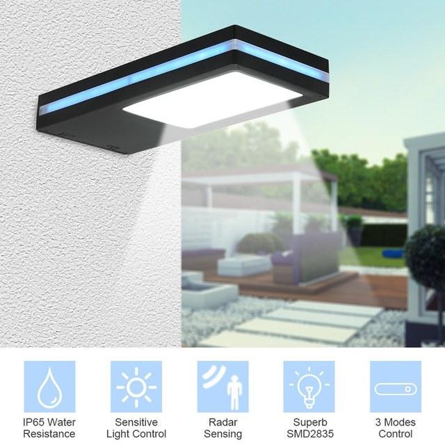 144 LED Solar Power Motion Sensor Wall Light Outdoor Garden Lamp Waterproof 1