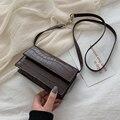 Мини-сумка через плечо с каменным рисунком для женщин  искусственная кожа  2020