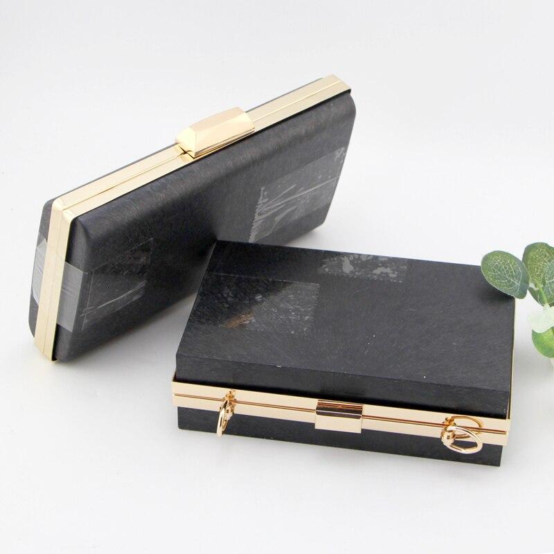 18cm /22cm Women Box Clutch Purse Frame Diy Handbag Accessories Obag Handles Purse Wallet With Black Plastic Purse Frames
