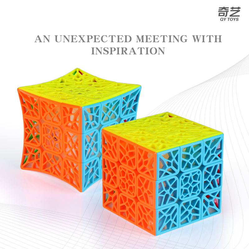 QiYi DNA Plane Concave 3x3x3 Magic Cube Stickerless 3x3 Speed Cube Toys For Children