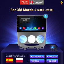 Junsun V1 4G+64G Android 10 radio coche con reproductor multimedia pantalla For Mazda 5 2005-2010 Automóvil /Bluetooth/Carplay/gps Navegación stock in spain
