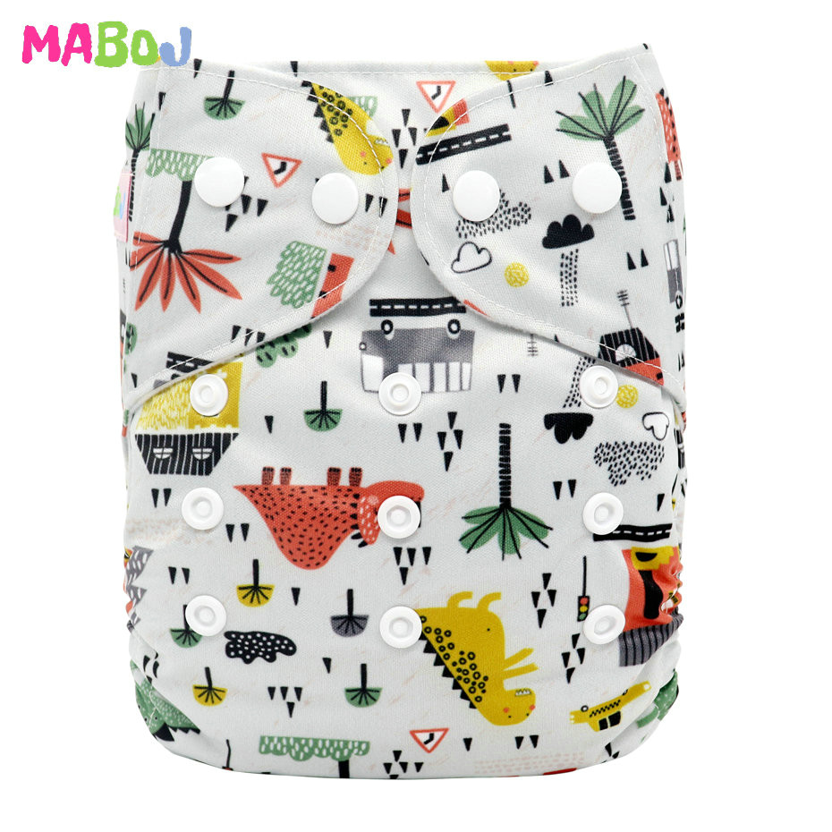 MABOJ Diaper Baby Pocket Diaper Washable Cloth Diapers Reusable Nappies Cover Newborn Waterproof Girl Boy Bebe Nappy Wholesale - Цвет: PD5-5-2
