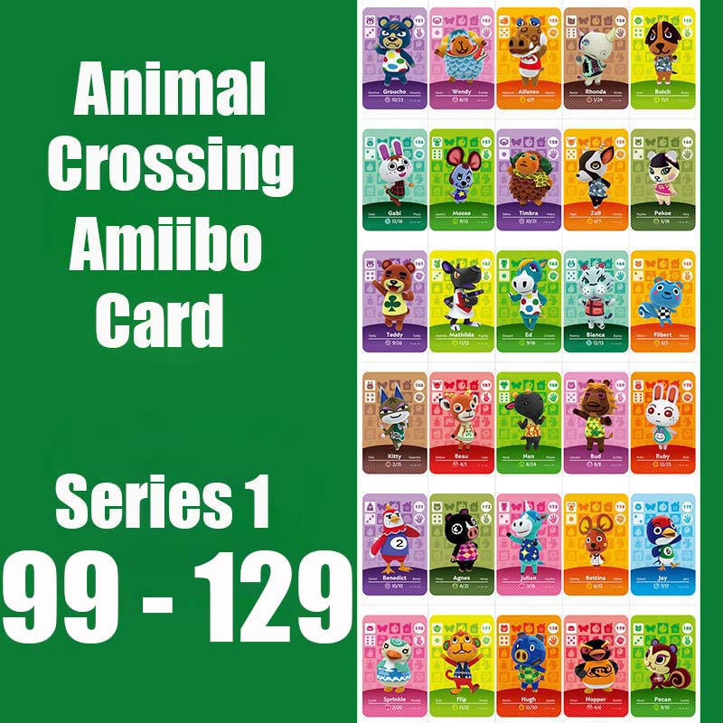 Animal Crossing Card Amiibo Locks Nfc Card Work For NS 3DS Switch Games Series 2 (099 To 129) Series 1 99 Molly