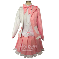 Hot anime Danganronpa: Trigger Happy Havoc cosplay costume Monomi suit shirt pink coat tie skirt cos hot sale carnival party